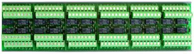 Dimensions: 2.8″w x 10.8″h (6 Modules 24 Relays)